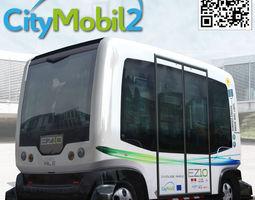 Driverless CityMobil Wepod bus 3D Model