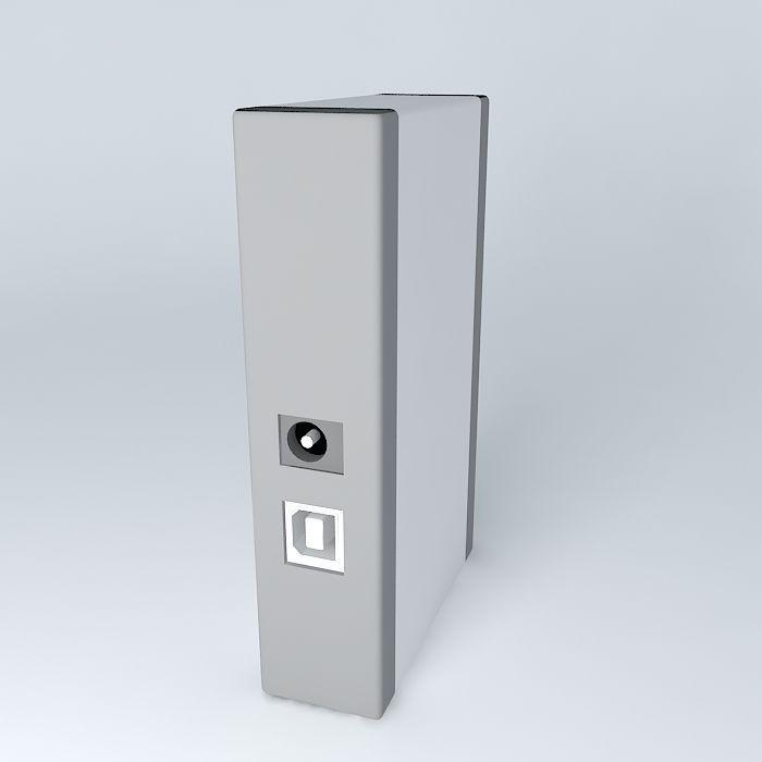 D-Link DUB-7H USB 7 port hub free 3D Model .max .obj .3ds ...