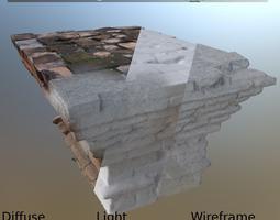 altar bricks 3d asset