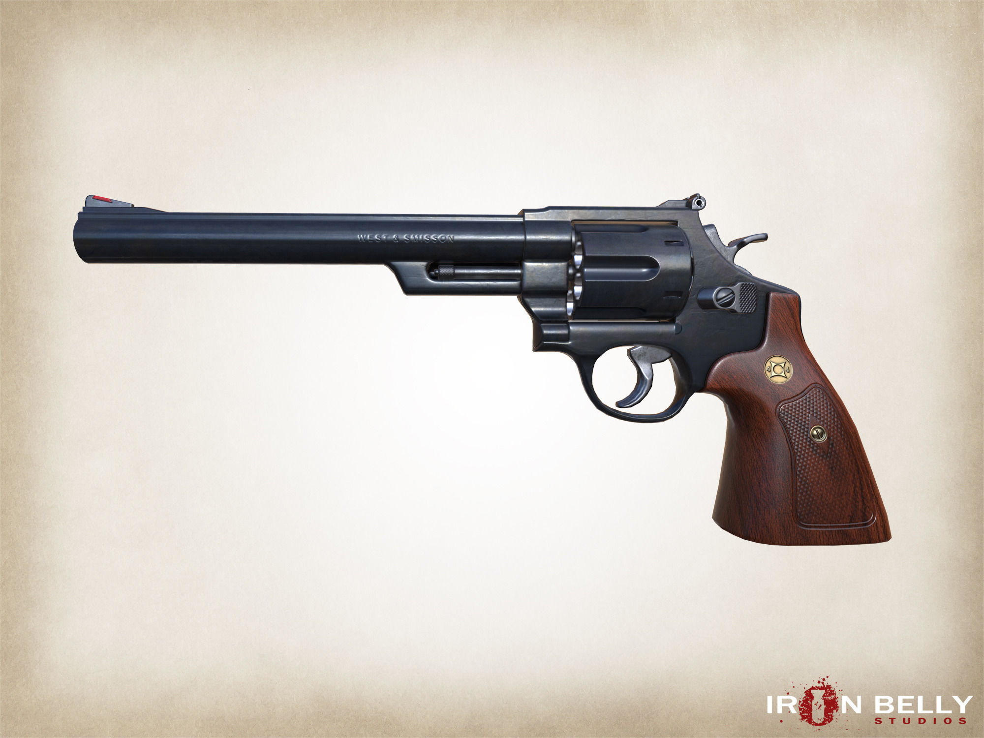 AAA FPS 44 Magnum Revolver Game-Ready