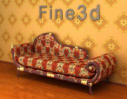 patterned couch 3d