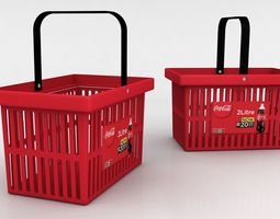 Shopping Basket with unit 3D model