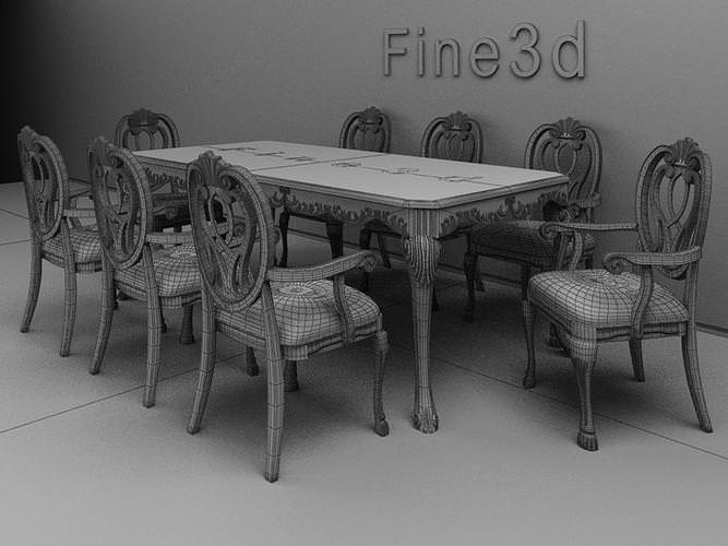 Dining table dining table 3ds max for Dining room table 3ds max