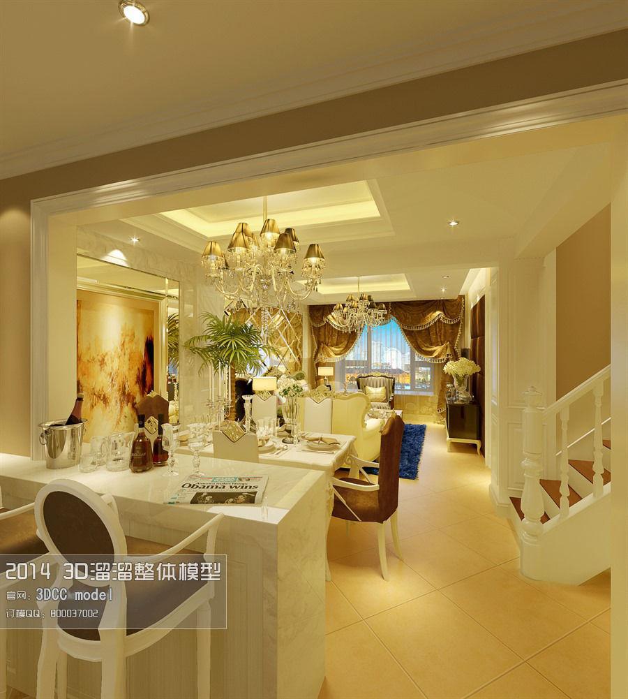 stylish luxury restaurant design 53 3d model max