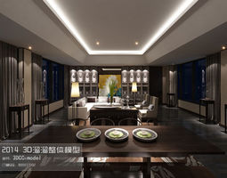3d stylish and luxurious living room design 03