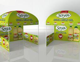 3D asset Gazebo low poly