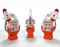 low-poly 3d model kinder joy free standing unit with textures