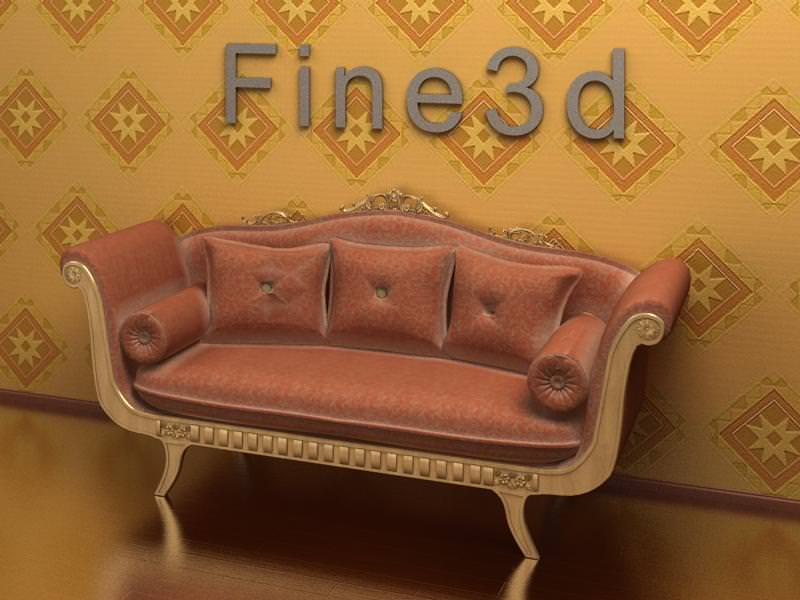 Old Fashioned Sofa 3d Model Max Obj 3ds 1 ...