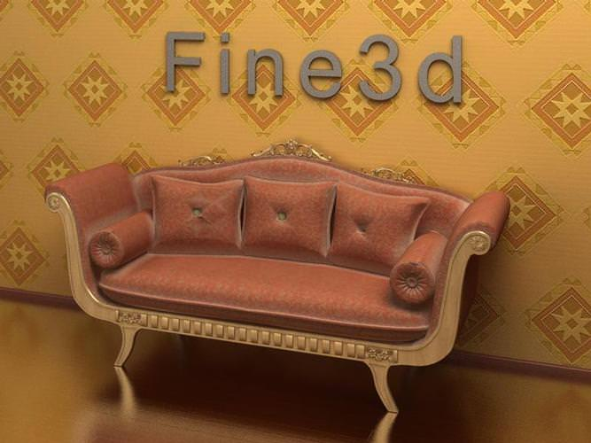 Old Fashioned Sofa 3d Model Max Obj 3ds Cgtrader Com