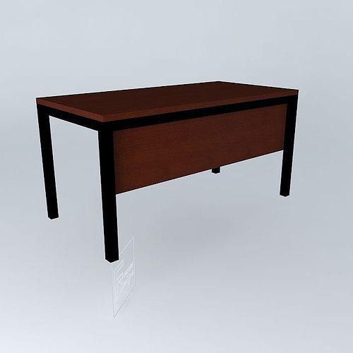 3d Model Office Desk 1500x750x750 Cgtrader