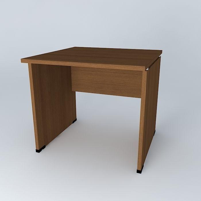Office Desk 800x800x720 Free 3d Model Max Obj 3ds Fbx Stl