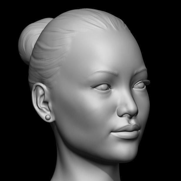 Head Base Mesh Asian Female