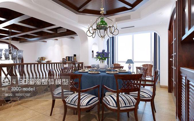 stylish luxury restaurant design 43 3d model max