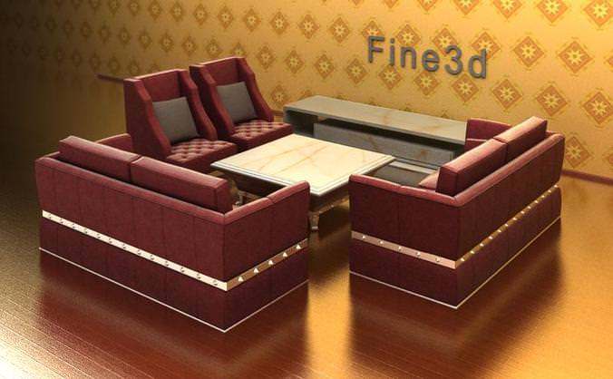 3d combination of living room furniture cgtrader for New model living room furniture