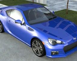 3d model subaru brz sti 2012