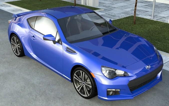 SUBARU BRZ STI 2012 3D model | CGTrader
