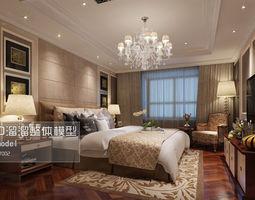 stylish luxury bedroom design 119 3d model