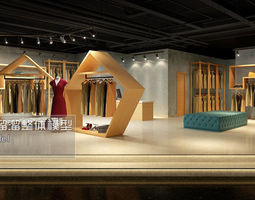 fashion showroom store design 03 3d model max