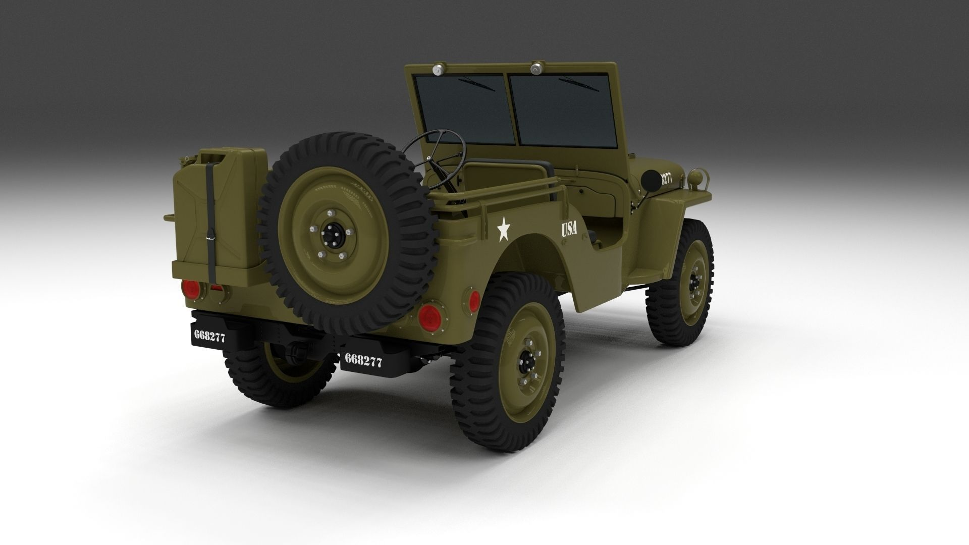 full w chassis jeep willys mb military 3d model obj fbx. Black Bedroom Furniture Sets. Home Design Ideas