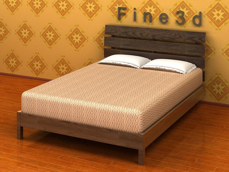 New Model Beds : ... bed 3d model simple looking double bed high detailed object modelled