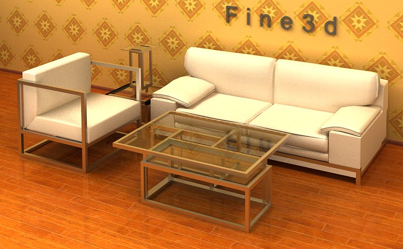 living room furniture 3d model max obj 3ds