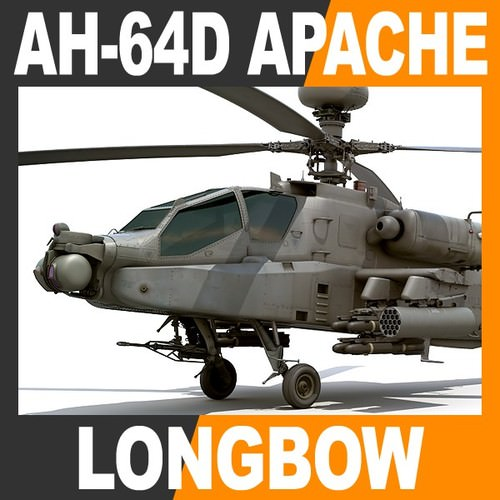 AH-64D Apache Longbow Attack Helicopter3D model
