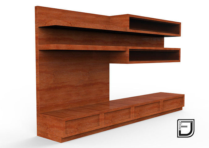 tv stand 7 3d model obj 3ds fbx c4d mtl. Black Bedroom Furniture Sets. Home Design Ideas