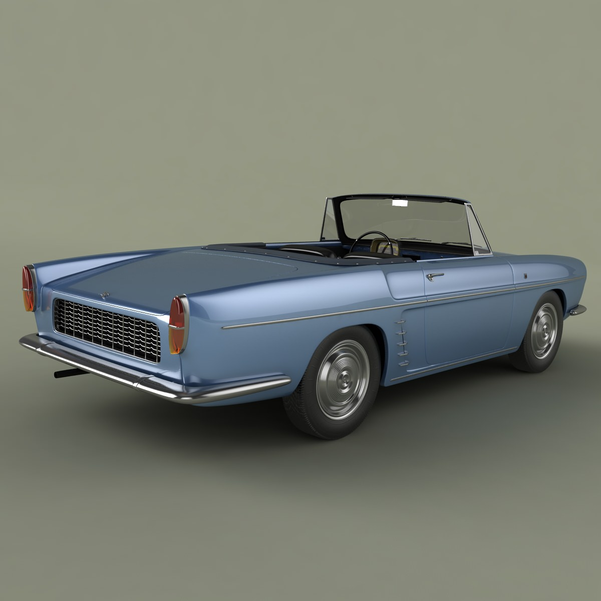 renault caravelle 1961 3d model max obj 3ds. Black Bedroom Furniture Sets. Home Design Ideas