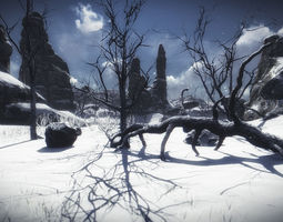 10 old branched leaf tree models for aaa and mobile games VR / AR ready