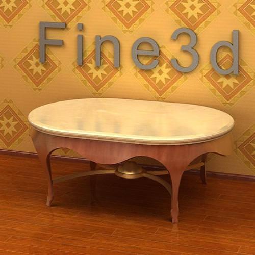 Plain Table3D model