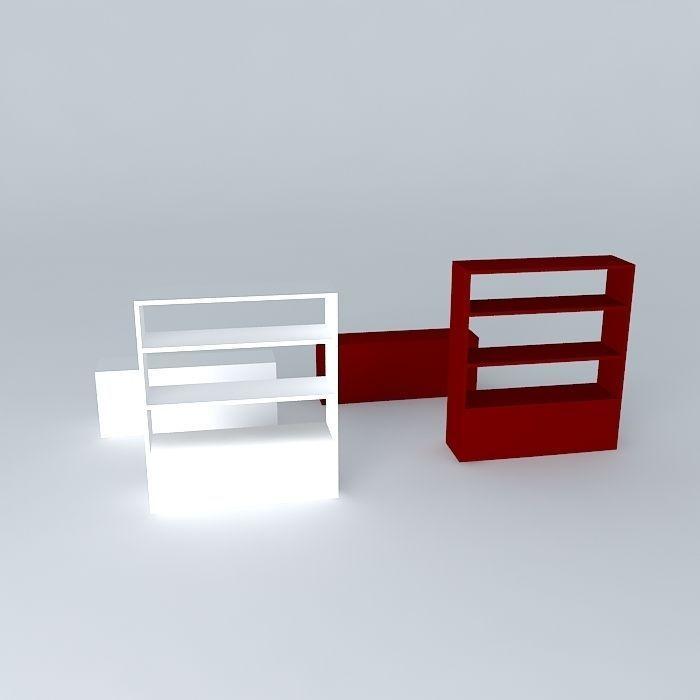 Storage Shelves Habitat Aspen 3d Model Max Obj Mtl 3ds Fbx Stl Dae 3