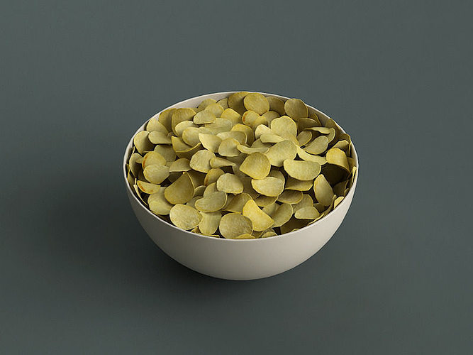big bowl of potato chips 3d model max obj fbx ma mb mtl tga 1