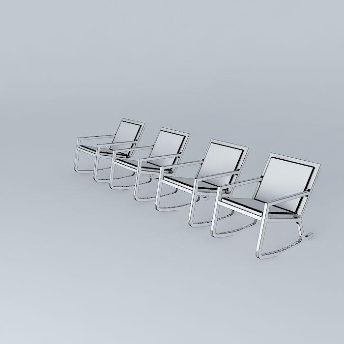 chair habitat rocker 3d model max obj 3ds fbx stl dae. Black Bedroom Furniture Sets. Home Design Ideas