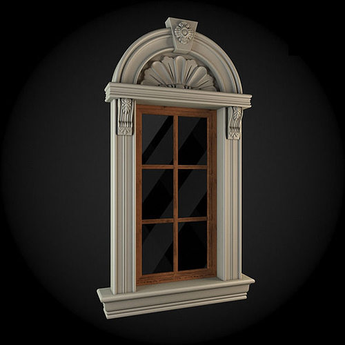 window 3d model max obj mtl fbx 1