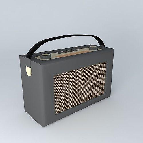 roberts radio retro black leather 3d model max obj mtl 3ds fbx stl dae 1