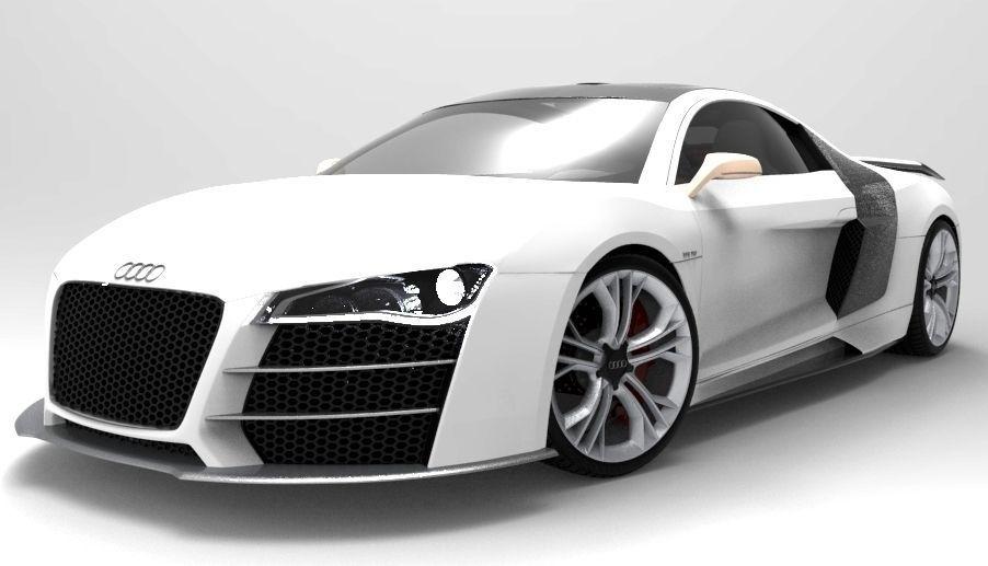 Audi R8 V12 sport 3D Model MAX OBJ 3DS  CGTrader.com