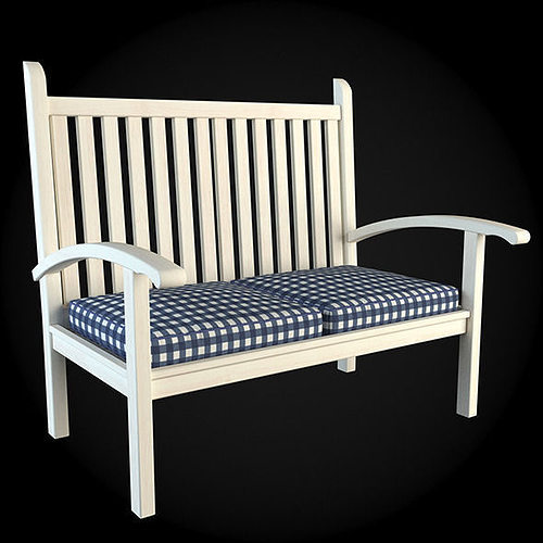 garden furniture 3d model cgtrader. Black Bedroom Furniture Sets. Home Design Ideas