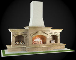3D model Garden Fireplace mantelpiece