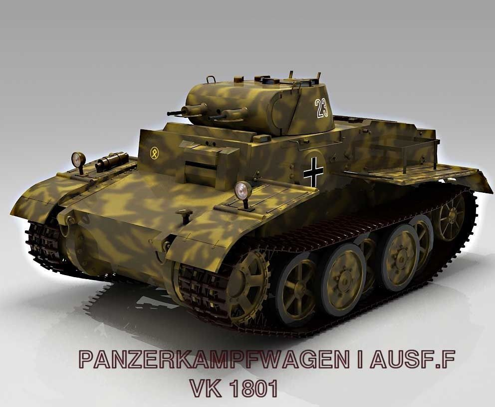 Panzer I Ausf F   VK1801