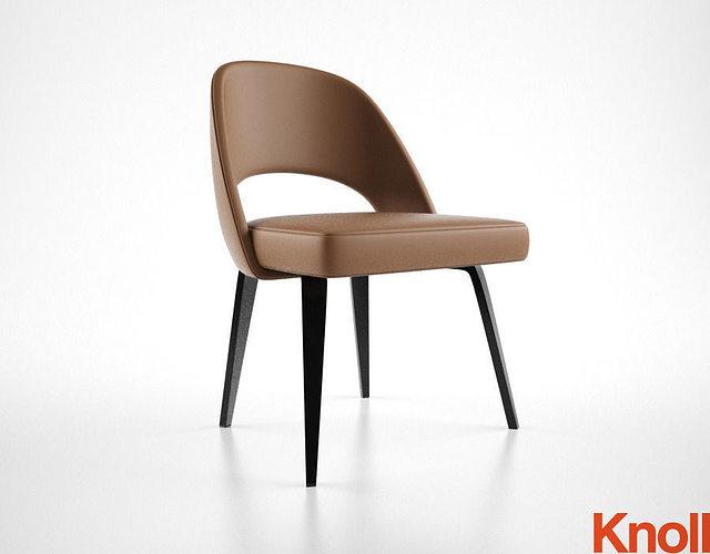 knoll saarinen chair 3d model max obj fbx mtl 1