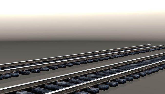 track 1524mm 3d model low-poly max obj mtl 3ds fbx 1
