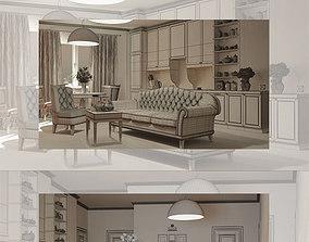 Living Room render 3D