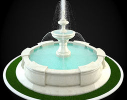 3D classicism Fountain