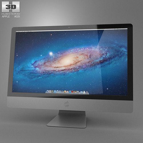 apple imac 27 2013 3d model low-poly max obj mtl 3ds fbx c4d lwo lw lws 1