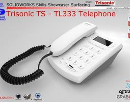 SW Skills - Trisonic TS-TL333 Telephone 3D model