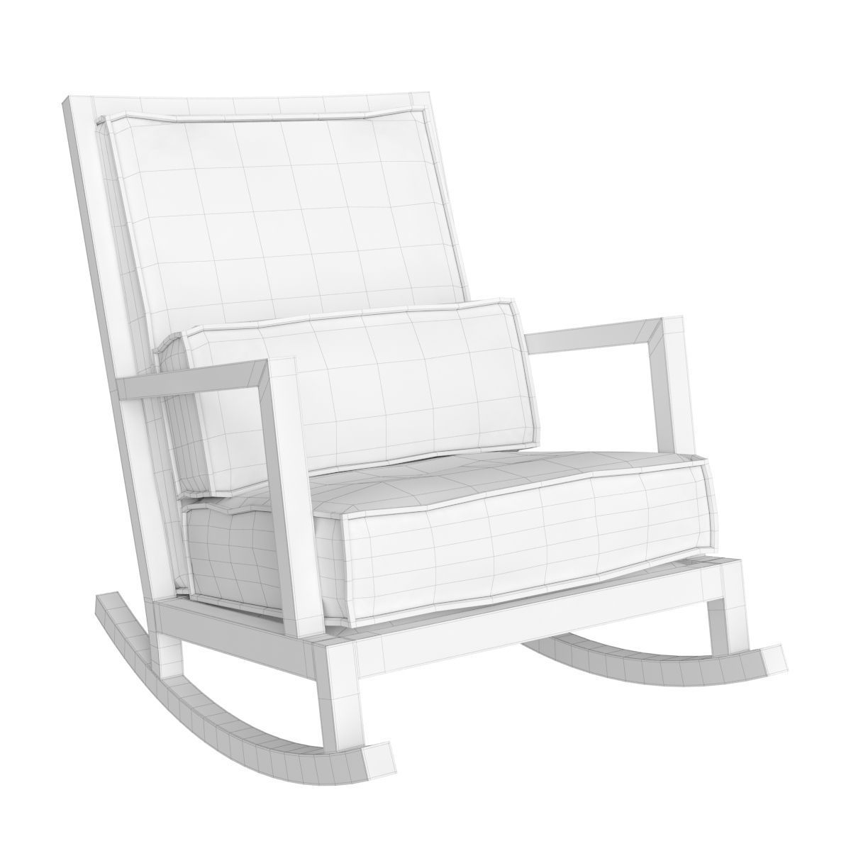 ... barrel jeremiah fabric back rocking chair 3d model max obj fbx mtl 3