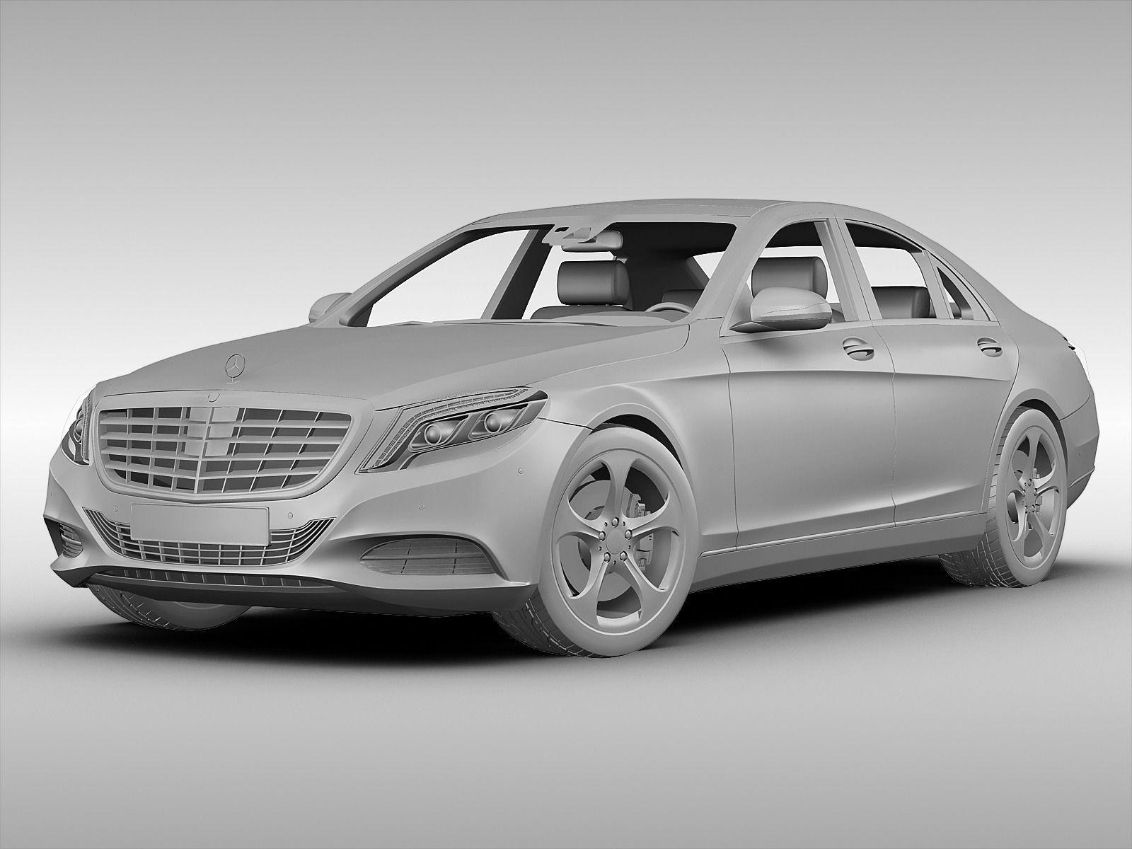Mercedes benz s class 2014 3d model max obj 3ds fbx for Mercedes benz 2014 s class
