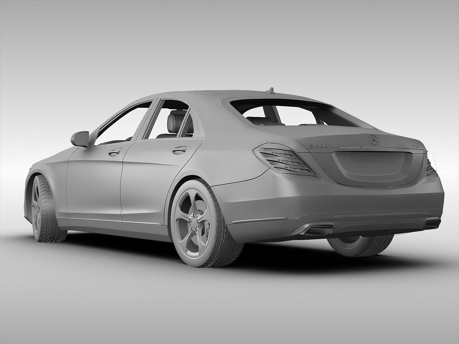 Mercedes benz s class 2014 3d model max obj 3ds fbx for New mercedes benz s class 2014