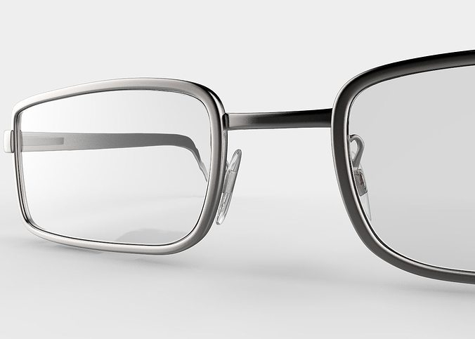 eyeglasses printable 3d model obj mtl stl ztl 1