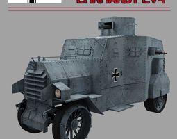 EHRARDT  E-V 4   ARMOURED CAR 3D Model